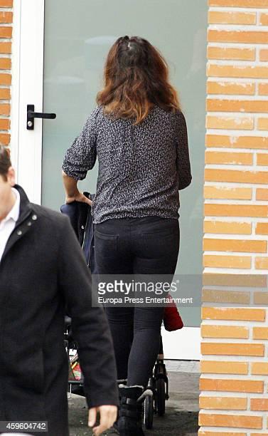 Monica Cruz and her daughter Antonella Cruz are seen on November 25 2014 in Madrid Spain