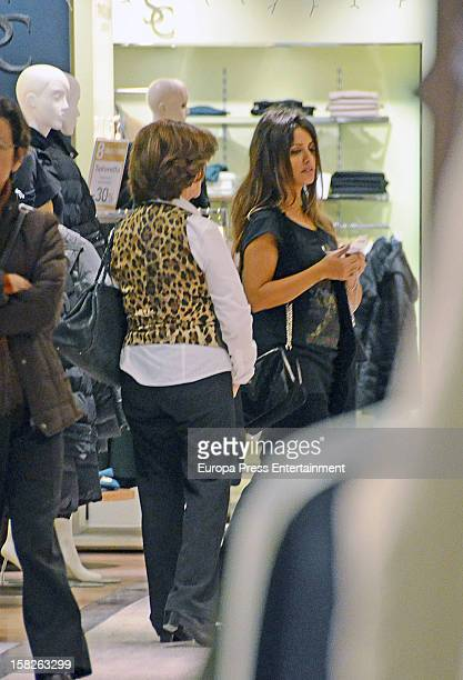 Monica Cruz and her mother Encarna Sanchez are seen on December 11 2012 in Madrid Spain