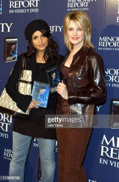 Monica Cruz and Kathryn Morris during 'Minority Report' DVD Edition Launch Madrid at Ciclorama Studio in Madrid Spain