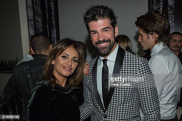 Monica Cruz and Miguel Angel Silvestre attend the Dsquared2 Opening Cocktail in the new Madrid store on October 21 2016 in Madrid Spain
