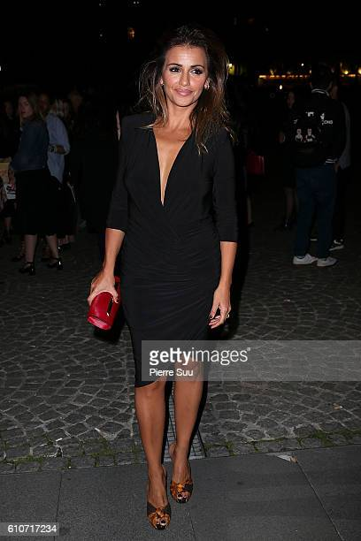 Monica Cruz arrives at the Etam show as part of the Paris Fashion Week Womenswear Spring/Summer 2017 on September 27 2016 in Paris France
