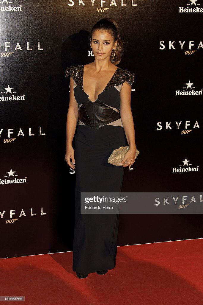 Monica Cruz attends the 'Skyfall' photocall premiere at Santa Ana Square on October 29, 2012 in Madrid, Spain.