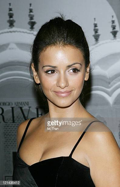 Monica Cruz during Giorgio Armani Celebrates 2007 Oscars with Exclusive Prive Show at Green Acres Estates in Beverly Hills California United States