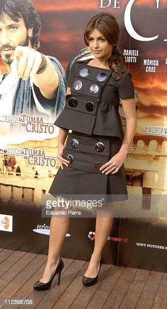 Monica Cruz during 'In Search of the Tomb of Christ' Madrid Photocall at ME Hotel in Madrid Spain