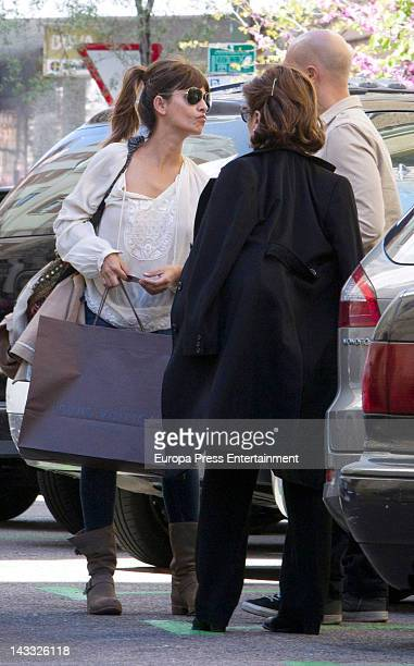 Monica Cruz her mother Encarna Sanchez and a friend are seen on April 23 2012 in Madrid Spain