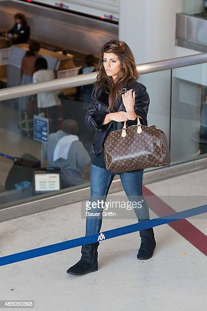 Monica Cruz is seen at Los Angeles International Airport on March 13 2011 in Los Angeles California