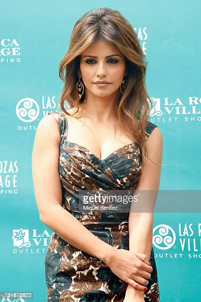 Monica Cruz presents the Eco Bag 'Be Green be Chic' on April 13 2011 in Roca Village Barcelona Spain