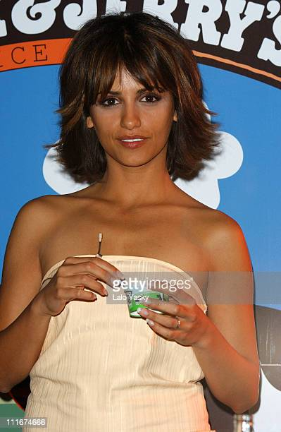 Monica Cruz tastes new Ben Jerry's ice cream flavors at the 'Calle 54' Club in Madrid