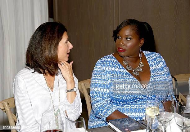 Monica Dahl SVP Marketing Omnichannel PR and Alissa Wilson Stylish Curves attend the Diane Gilman Christopher Banks Host Dinner To Celebrate UltraLux...