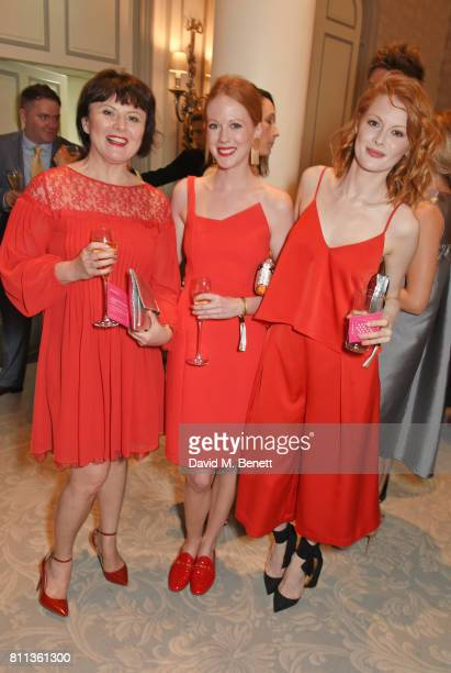 Monica Dolan Zoe Boyle and Emily Beecham attend The South Bank Sky Arts Awards drinks reception at The Savoy Hotel on July 9 2017 in London England
