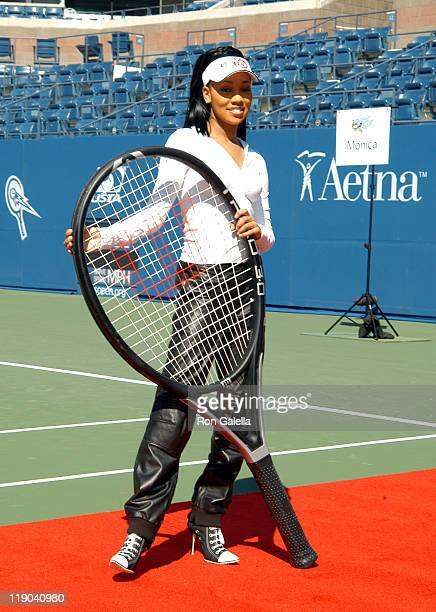 Monica during 2003 US Open - Arthur Ashe Kids Day at USTA National Tennis Center in Queens, New York, United States.