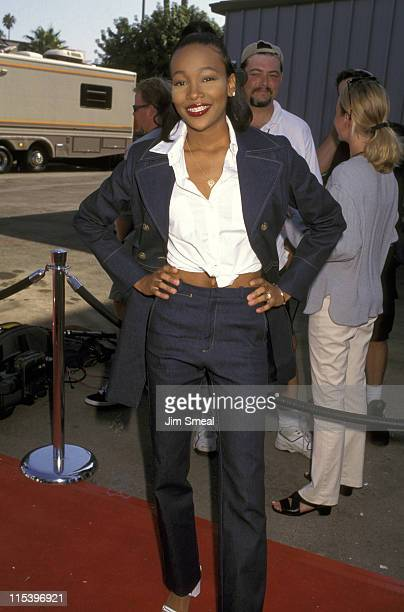 Monica during The 3rd Annual Soul Train Lady of Soul Awards at Santa Monica Civic Auditorium in Santa Monica California United States