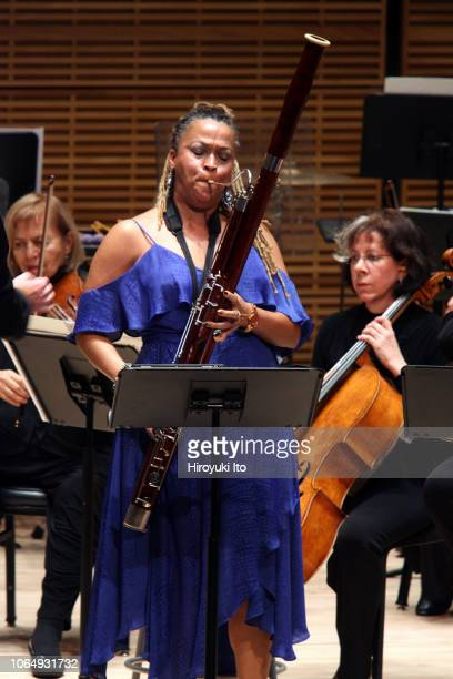 Monica Ellis on bassoon of Imani Winds performing Valerie Coleman's Phenomenal Women Concerto for Wind Quintet with the American Composers Orchestra...