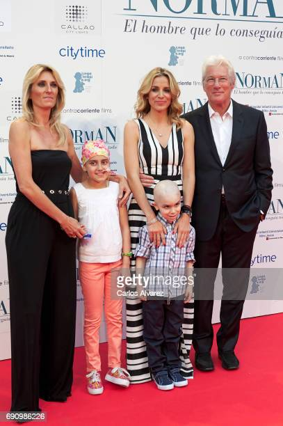 Monica Esteban Alejandra Silva and actor Richard Gere attend the 'Norman The Moderate Rise and Tragic Fall of a New York Fixer' premiere at the...