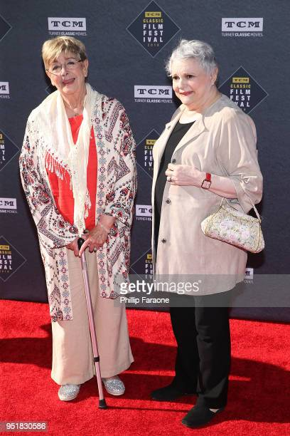 Monica Evans and Carole Shelley attend the 2018 TCM Classic Film Festival Opening Night Gala 50th Anniversary World Premiere Restoration of The...