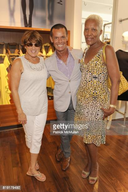 Monica Foreman Nielson Cruz and Marita Monroe attend CARLOS FALCHI JEFFREY THORPE Host A TwoDay Presentation at Magaschoni on July 24 2010 in East...