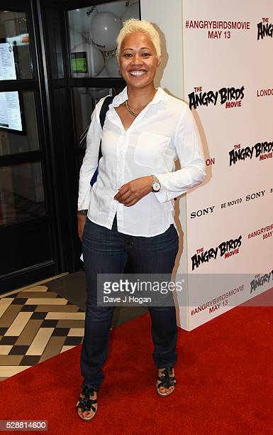 Monica Galetti attends the UK gala screening of Angry Birds at Picturehouse Central on May 7 2016 in London England