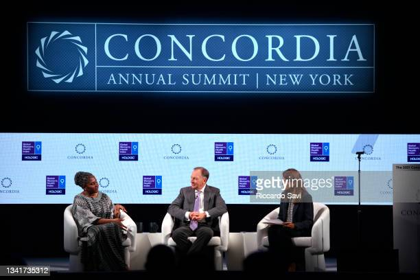 Monica Geingos, First Lady, Republic of Namibia, Stephen MacMillan, Chairman, President and Chief Executive Officer, Hologic, Inc. And Paige...