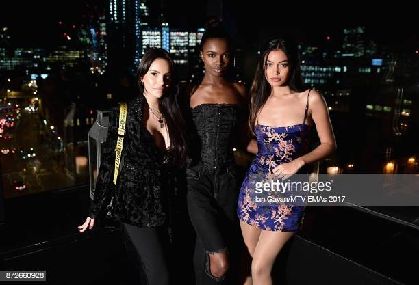 Monica Geuze Leomie Anderson and Cindy Kimberly attend the It Girls and MTV EMA Correspondents Dinner held at The Ace Hotel ahead of the MTV EMAs...