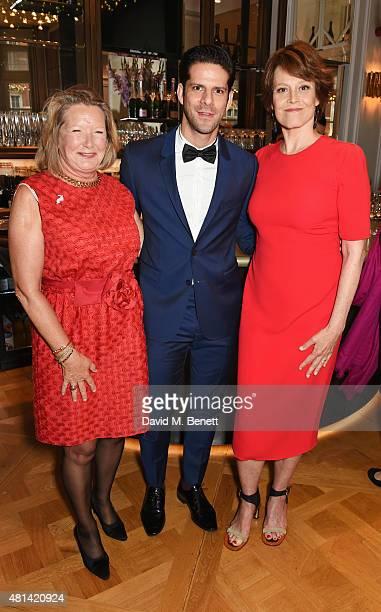 Monica GS Wambold Marcelo Gomes and Sigourney Weaver attend a celebration of Brazilian ballet dancer Marcelo Gomes hosted by Sigourney Weaver Ali...