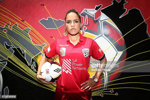 Monica Hickmann Alves of Adelaide poses during the 2016/17 WLeague Season Launch on October 31 2016 in Sydney Australia