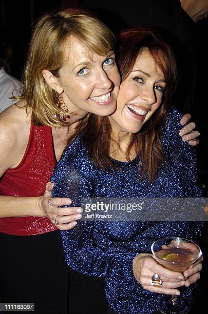 Monica Horan and Patricia Heaton during 'Everybody Loves Raymond' Celebrates 200th Episode at Spago in Beverly Hills California United States