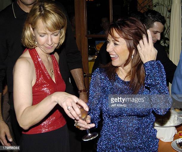Monica Horan and Patricia Heaton during Everybody Loves Raymond Celebrates 200th Episode at Spago in Beverly Hills California United States
