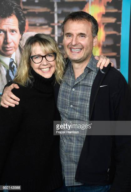 Monica Horan and Phil Rosenthal attend the screening of HBO's The Zen Diaries Of Garry Shandling at Avalon on March 14 2018 in Hollywood California