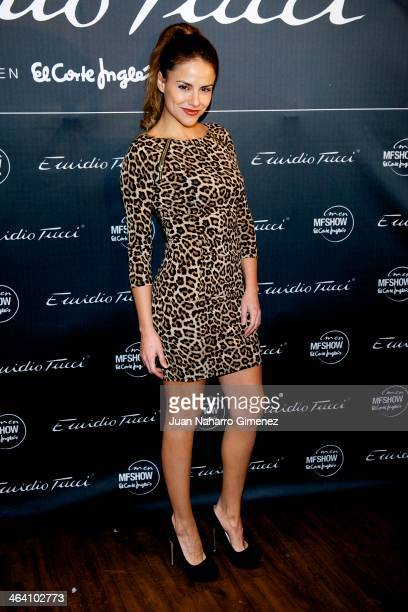 Monica Hoyos attends Emidio Tucci new collection presentation at Teatro Calderon on January 20 2014 in Madrid Spain