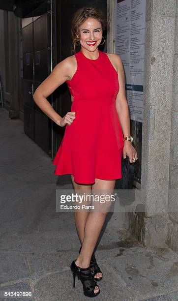 Monica Hoyos attends the 'La moda en la calle' fashion show at Royal Theatre on June 28 2016 in Madrid Spain