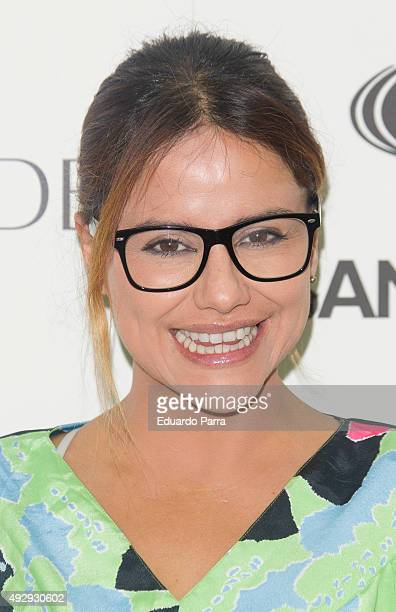 Monica Hoyos attends The Petite Fashion Week photocall at Madrid City Hall on October 16 2015 in Madrid Spain