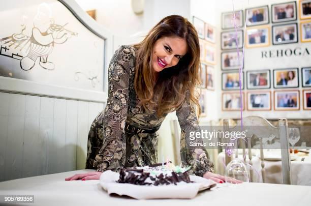 Monica Hoyos celebrates her birthday on January 16 2018 in Madrid Spain