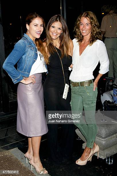 Monica Hoyos Ivonne Reyes and Monica Martin Luque attend to the inauguration of the 'Punk Bach Terrace' at Punk Bach on June 17 2015 in Madrid Spain