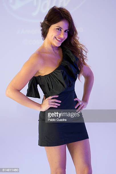 Monica Hoyos presents 'American Idol' talent show on March 10 2016 in Madrid Spain