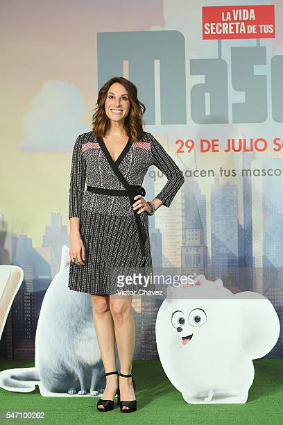 Monica Huarte attends a press conference and photocall to promote the new film 'The Secret Life of Pets' at St Regis Hotel on July 13 2016 in Mexico...