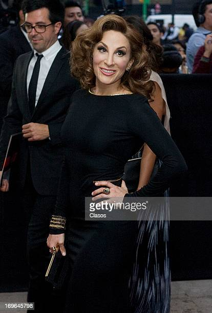 Monica Huarte poses during the red carpet of the 55th Ariel Awards at the Palace of Fine Arts on May 28 2013 in Mexico City Mexico