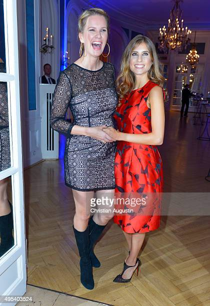 Monica Ivancan and Cathy Hummels attend the Deichmann Shoe Step Of The Year Award at Hotel Atlantic Kempinski on November 2 2015 in Hamburg Germany