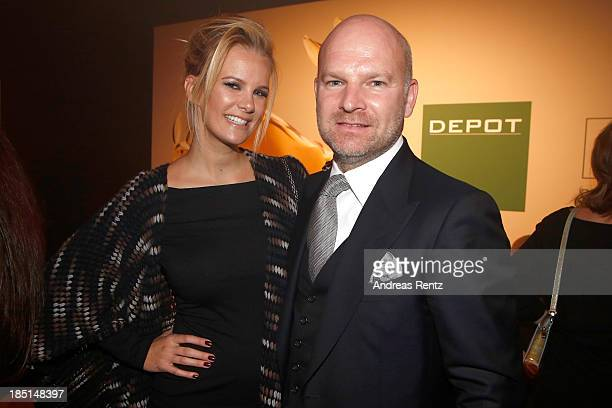 Monica Ivancan and Christian Gries attend the Tribute To Bambi Party at Station on October 17 2013 in Berlin Germany