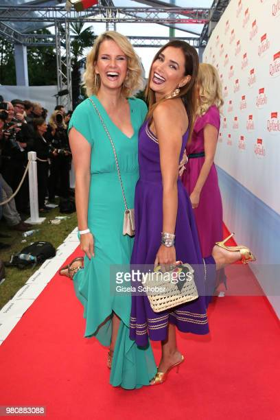 Monica Ivancan and Jana Ina Zarrella during the Raffaello Summer Day 2018 to celebrate the 28th anniversary of Raffaello on June 21 2018 in Berlin...