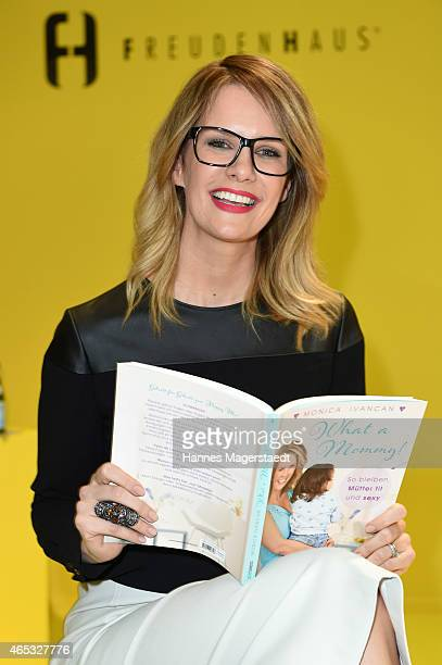 Monica Ivancan attends her book presentation 'What a Mommy' at Freudenhaus on March 5 2015 in Munich Germany