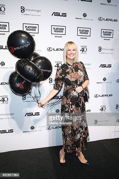 Monica Ivancan attends the Breuninger show during Platform Fashion January 2017 at Areal Boehler on January 27 2017 in Duesseldorf Germany