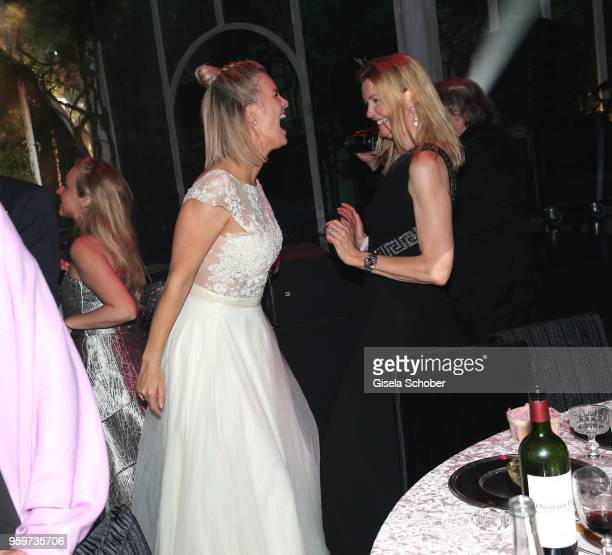 Monica Ivancan dances during the amfAR Gala Cannes 2018 dinner at Hotel du CapEdenRoc on May 17 2018 in Cap d'Antibes France