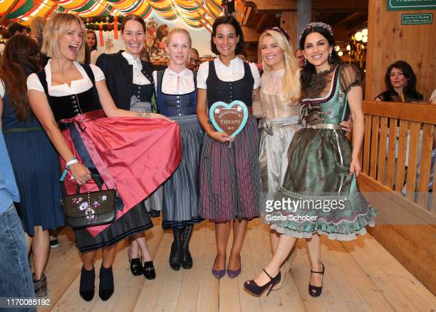 Monica Ivancan Dirndl fashion designer Alexandra von Frankenberg saw Sandra Mohsni Jennifer Knaeble and Viktoria Lauterbach during the Fruehstueck...