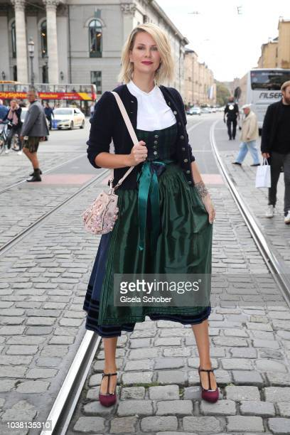 Monica Ivancan during the 'Fruehstueck bei Tiffany' at Tiffany Store ahead of the Oktoberfest on September 22 2018 in Munich Germany
