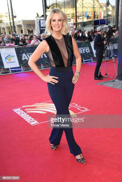 Monica Ivancan wearing a jumpsuit by Galvan attends the Radio Regenbogen Award 2017 at EuropaPark on April 7 2017 in Rust Germany