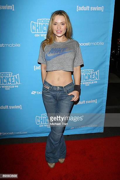 Monica Keena arrives to Adult Swim's 'Robot Chicken Skate Party' bus tour held at Skateland on August 1 2009 in Northridge California