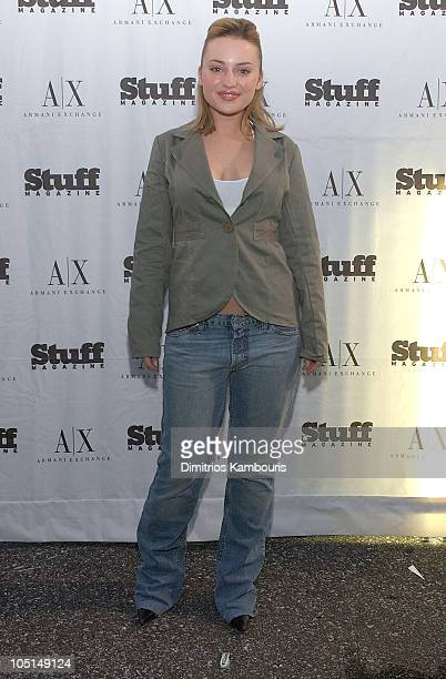 Monica Keena during Stuff Magazine Heats Up New York With Armani Exchange Beachdance Party at Pier 54 in New York City New York United States