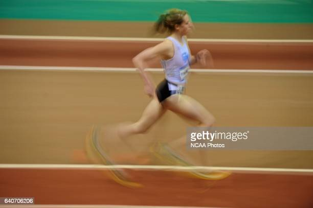 Monica Kinney of Grand Valley State competes in the women's 1 mile prelims during the Division II Winter Sports Festival Men's and Women's Indoor...