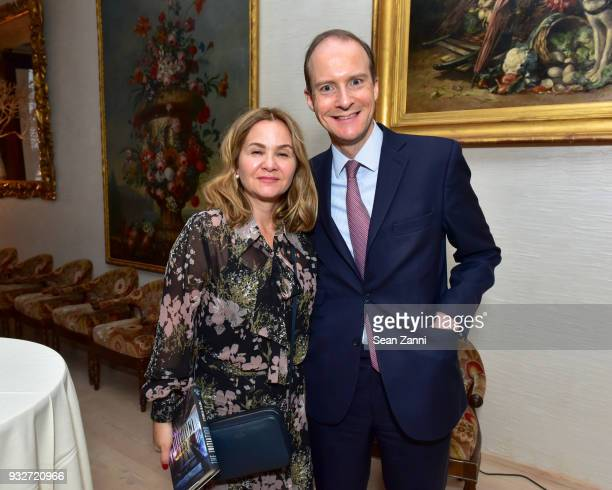 Monica Laidler and Ben Laidler attend 'The Initiation' Book Launch at Bouley TK on March 15 2018 in New York City