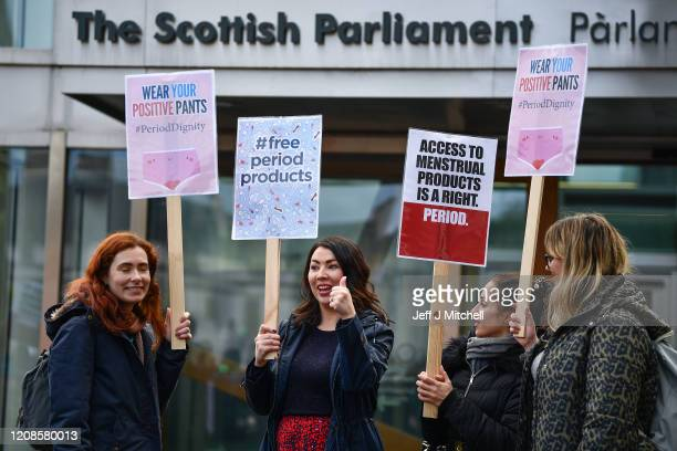 Monica Lennon joins campaigners and activists during a rally outside the Scottish Parliament in support of the Scottish Governments Support For...